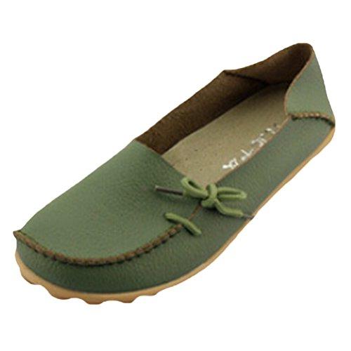 Vogstyle Damen Casual Slipper Flatschuhe Low-top Schuhe Erbsenschuhe Art 1 Armeegrün 39
