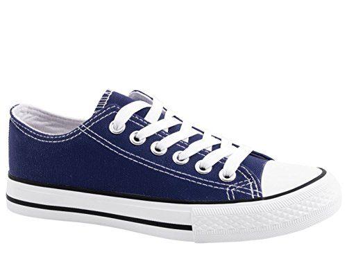 Elara Unisex Sneaker | Bequeme Sportschuhe für Damen und Herren | Low Top Turnschuh Textil Schuhe 36-46 A-YD3230-Blau-39