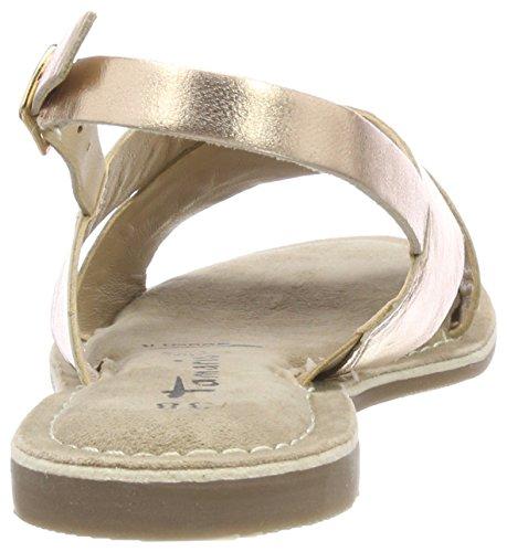 Tamaris Damen 28161 Slingback Sandalen, Pink (Rose Gold), 38 EU