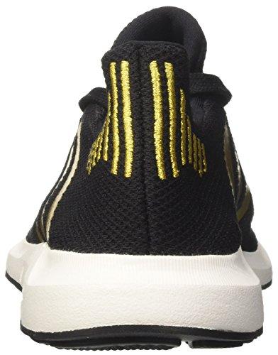 adidas Damen Swift Run W Laufschuhe, Mehrfarbig (Core Black/Gold Met./FTWR White), 38 EU