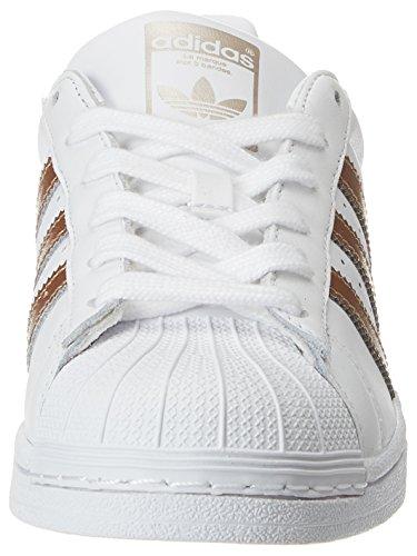 adidas Damen Superstar W Fitnessschuhe, Weiß (Ftwbla/Ciberm/Ftwbla 000), 39 1/3 EU