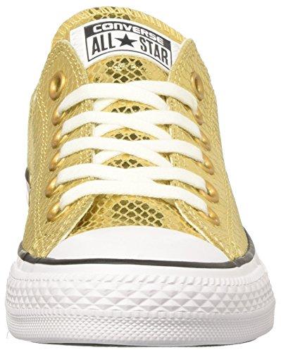 Converse Damen CTAS OX Sneakers, Gold (Gold/Black/White), 36 EU