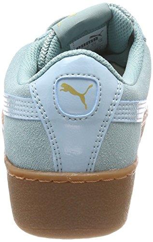Puma Damen Vikky Platform Sneaker, Grün (Aquifer-Metallic Gold), 38.5 EU