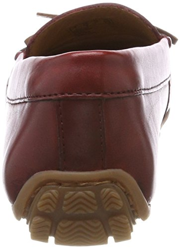 Clarks Damen Dameo Swing Mokassin, Schwarz (Red Leather), 38 EU
