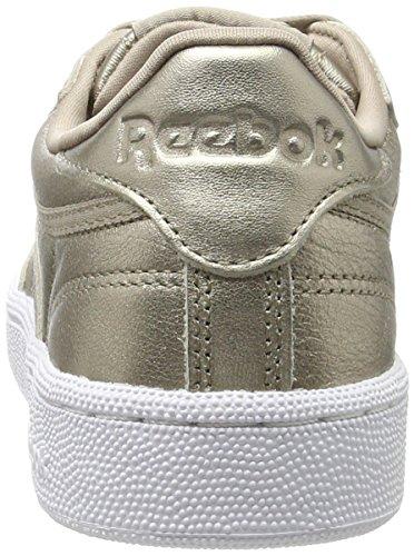 Reebok Damen Club C 85 Lthr Sneaker, Gold (Pearl Metallic-Grey Gold/White), 41 EU