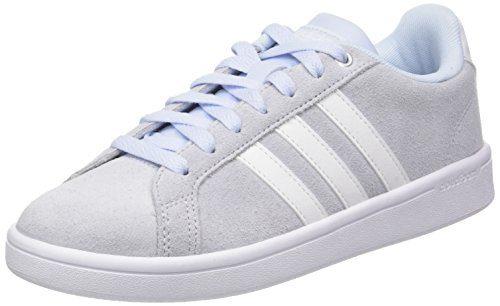 adidas Damen Cloudfoam Advantage Fitnessschuhe, Blau (Aero Blue S18/Ftwr White/Matte Silver Aero Blue S18/Ftwr White/Matte Silver), 40 EU