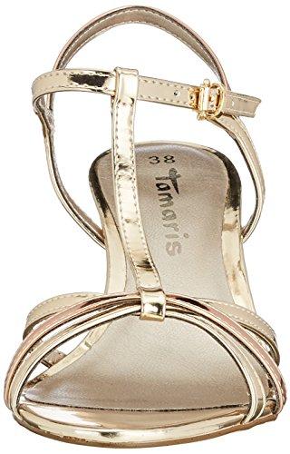 Tamaris Damen 28329 T-Spangen Sandalen, Gold (Gold/Copper), 37 EU