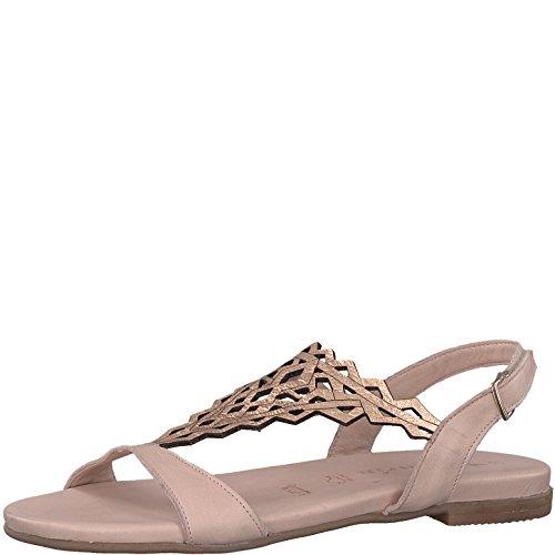 Tamaris 1-1-28126-20 Damen Sandale, Sandalette, Sommerschuhe für Die Modebewusste Frau Rosa (Rose/Rose Gold), EU 38