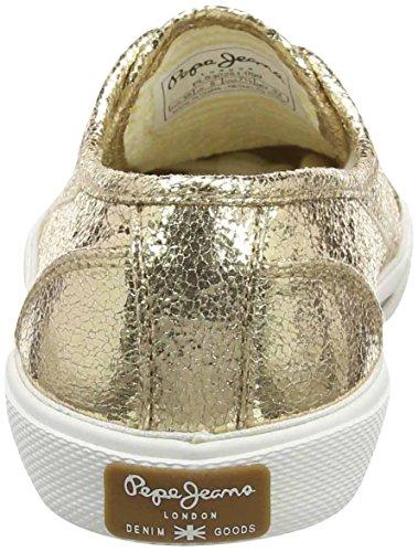 Pepe Jeans London Aberlady Metal, Damen Sneakers, Gold (099GOLD), 38 EU