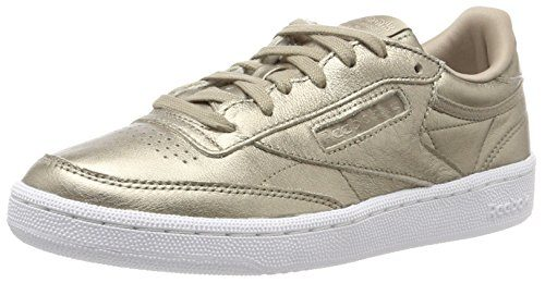 Reebok Damen Club C 85 Lthr Sneaker, Gold (Pearl Metallic-Grey Gold/White), 41 EU