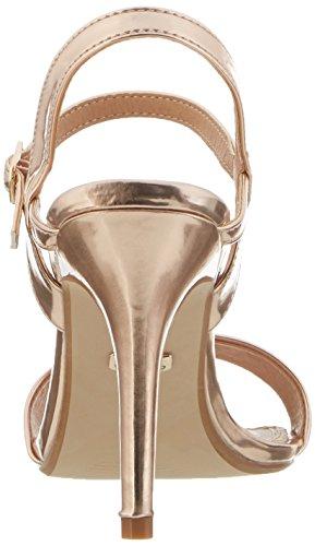Buffalo Shoes Damen 314258 Metallic PU HM 333 Knöchelriemchen, Beige (Champagne 01), 41 EU