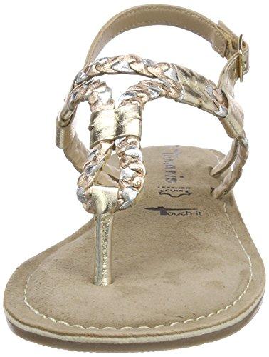 Tamaris Damen 28159 Slingback Sandalen, Gold (Multi Metallic), 41 EU