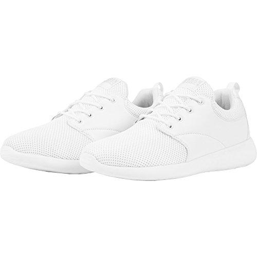 Urban Classics Damen und Herren Light Runner Shoe, Low-Top Sneaker für Damen und Herren, Sportschuhe mit Schnürung, Weiß, Größe 39