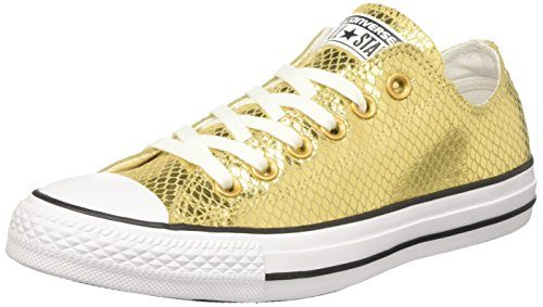 Converse Damen CTAS OX Sneakers, Gold (Gold/Black/White), 36 EU