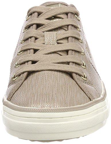 s.Oliver Damen 23640 Sneaker, Braun (Pepper/Gold), 41 EU