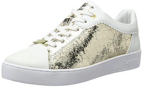 Bugatti Damen J7608PR6N Sneakers, Weiß (Weiss/Gold 235), 41 EU