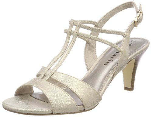 Tamaris Damen 28304 Slingback Sandalen, Gold (Light Gold), 36 EU