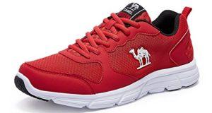 CAMEL Herren Sportschuhe Laufschuhe Sneaker Atmungsaktiv Leichte Traillaufschuhe (42 EU=UK 7.5=Fußlänge 26cm, Red)