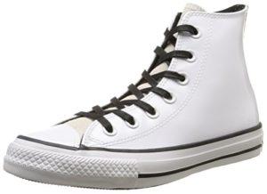 Converse All Star Hi Patent/Suede, Herren Sneaker Low-Tops, Elfenbein - Off-White (Optical White) - Größe: 39.5 EU