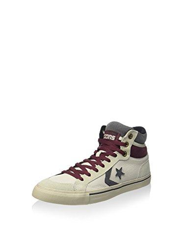 Converse Unisex-Erwachsene Pro Blaze Hi Leather/Suede Hightop Sneaker, Weiß/Bordeaux, 39.5 EU
