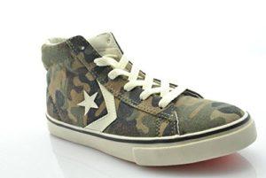 Converse Unisex-Kinder Pro Leather VULC Mid Canvas Pr Hohe Sneaker, Grün Camouflage, 30 EU