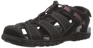 Geox Uomo Sandal Strada B, Herren Geschlossene Sandalen, Schwarz (BLACKC9999), 44 EU
