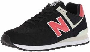 New Balance Herren 574v2 Sneaker, Schwarz (Black/Pomelo SMP), 44 EU
