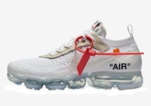 Nike Air Vapormax x Off White - White/Black-Total Orange Trainer Size 7.5 UK