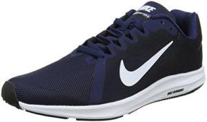 Nike Herren Downshifter 8 Laufschuhe, Blau (Midnight Navy/White/Dark Obsid 400), 44 EU