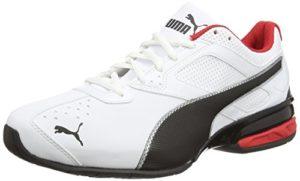 Puma Tazon 6, Herren Laufschuhe, Laufschuhe Training, White/Black Silver, 44 EU