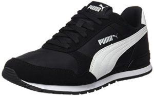 Puma Unisex-Erwachsene St Runner V2 NL Sneaker, Schwarz Black White 1, 41 EU (7.5 UK)