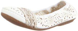 Rieker 41466 Women Closed Toe, Damen Geschlossene Ballerinas, Weiß (weiss/offwhite/80), 39 EU