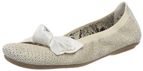 Rieker Damen 41497 Geschlossene Ballerinas, Gold (Weissgold/White-Silver), 38 EU