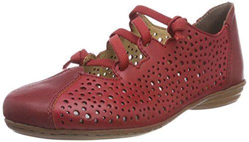 Rieker Damen 53975 Geschlossene Ballerinas, Rot (Rosso), 38 EU