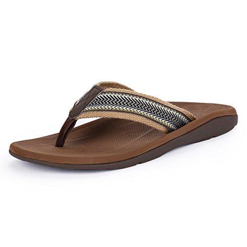 SESSOM&CO Herren Orthotische Sandalen mit großem Bogen Stylish Flip Flops Sandalen für Plantar Fasciitis