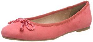 Tamaris Damen 22142 Geschlossene Ballerinas, Rot (Coral), 40 EU