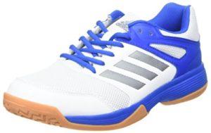 adidas Herren Speedcourt M Handballschuhe, Mehrfarbig (Ftwbla/Nocmét/Blau 000), 43 1/3 EU