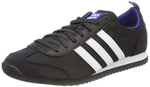 adidas Herren VS Jog Gymnastikschuhe, Schwarz (Core Black/FTWR White/Collegiate Royal), 44 EU