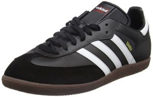 adidas Samba, Unisex-Erwachsene Low-Top Sneaker, Schwarz (Black/Running White), 43 1/3 EU