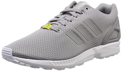 adidas Unisex-Erwachsene ZX Flux Low-Top Sneakers, Grau (Aluminum/Running White), 47 1/3