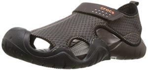 crocs Swiftwater Sandal Men, Herren Sandalen, Braun (Espresso/Espresso), 43/44 EU