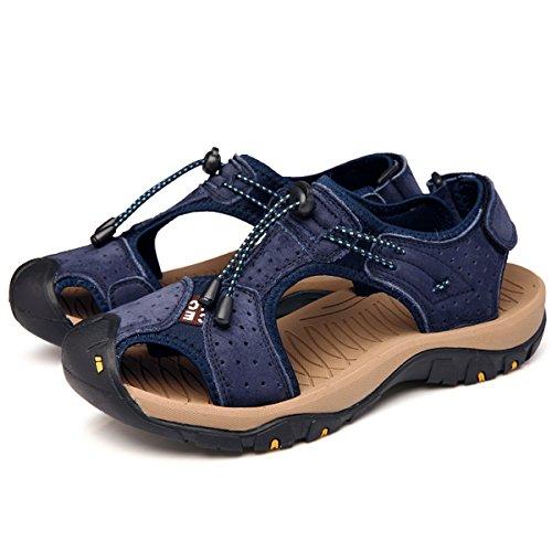 gracosy Herren Sport Sandale Schuhe, Wasserdichte Sandalen Trekking & Wanderschuhe Langlebige Flexible Wander Wanderschuhe Männer Rutschfeste Breathable Strandschuhe Outdoorsandalen(Gelb Khaki Blau)