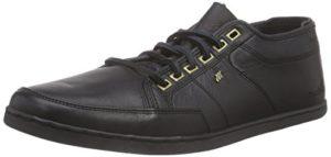 Boxfresh SPARKO ICN LEA ASN/BLK, Herren Sneakers, Schwarz (ASHEN/BLACK), 41 EU
