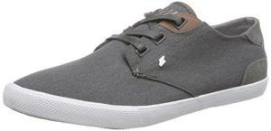 Boxfresh STERN ICN WXD CNVS/SDE, Herren Sneakers, Grau (GREY/WHITE), 42 EU