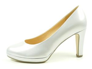 Gabor 61-270 Schuhe Damen Plateau Perlato Lack Pumps Weite F, Schuhgröße:40, Farbe:Silber
