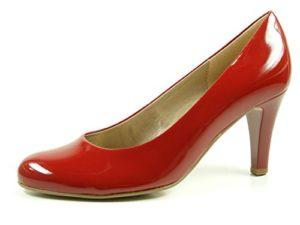 Gabor 75-210-75 Schuhe Damen Lack Pumps Weite F , Schuhgröße:37.5;Farbe:Rot