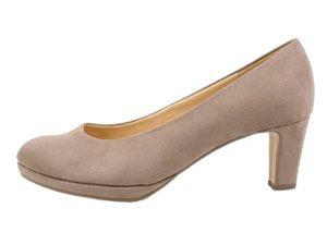 Gabor 91-260 Schuhe Damen Microvelour Plateau Pumps Weite F, Schuhgröße:38, Farbe:Beige