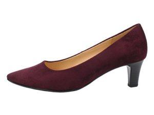 Gabor 91-350 Schuhe Damen Microvelour Pumps Weite F, Schuhgröße:39, Farbe:Rot