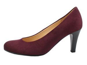 Gabor 95-310 Schuhe Damen Pumps Weite F Microvelour, Schuhgröße:39, Farbe:Rot