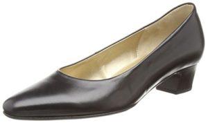 Gabor  Company,  Damen Geschlossene Pumps , Schwarz - Schwarz (Schwarzes Leder) - Größe: 42.5 (UK 8.5)